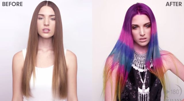 Color-Blocked Hair Is the Next Rainbow Trend  - Seventeen.com