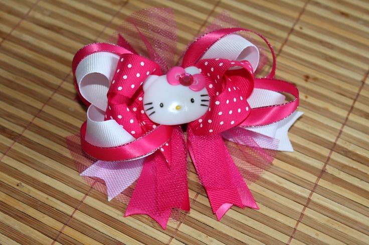 Hello Kitty Hair Bow $5