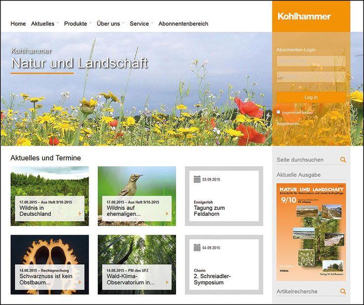 Die neue Website der Zeitschrift Natur und Landschaft!  http://www.natur-und-landschaft.de   #BfN #Naturschutz #Umweltschutz #Landschaftspflege