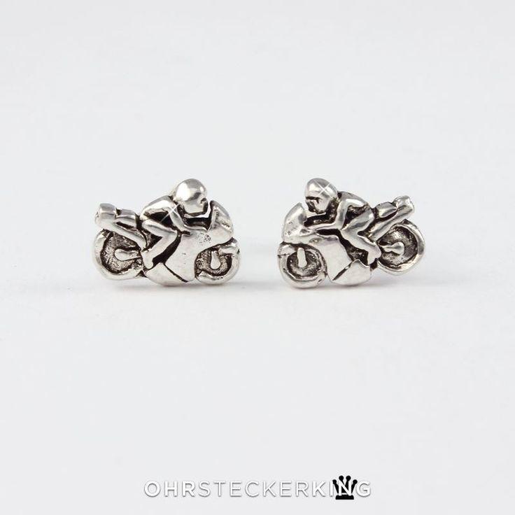 Ohrstecker aus Echt Silber, Motorrad, Paar 9,90€
