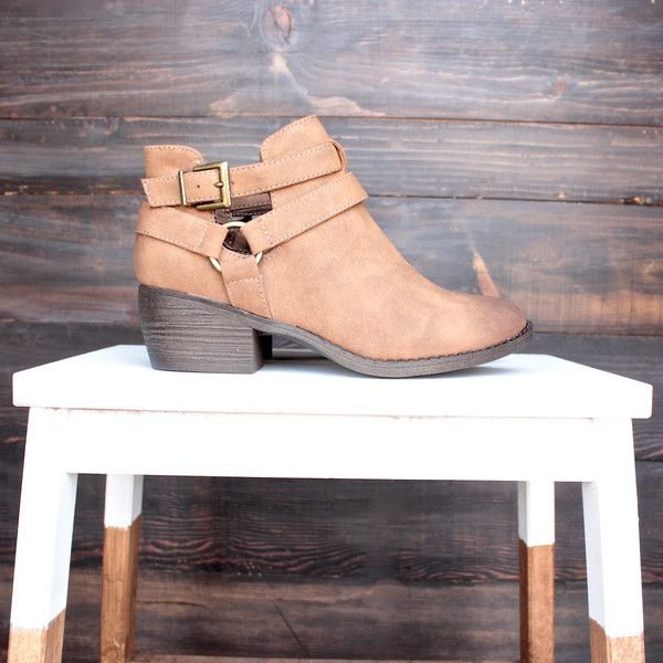 Amazing boots by bf footwear to wear all year round! We love those, don't you? stacked heel cut out design with adjustable buckle by bc footwear