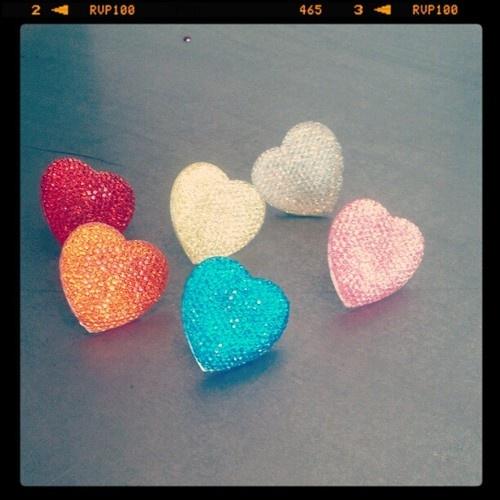 Sparkling #hearts #ringsHeart Rings, Sparkle Heart, Rings Compass, Bling Bling
