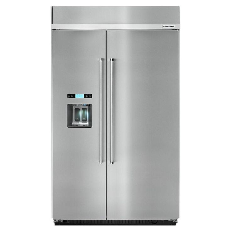 images?q=tbn:ANd9GcQh_l3eQ5xwiPy07kGEXjmjgmBKBRB7H2mRxCGhv1tFWg5c_mWT Kitchenaid - 29.5 Cu. Ft. Side-by-side Built-in Refrigerator - Stainless Steel