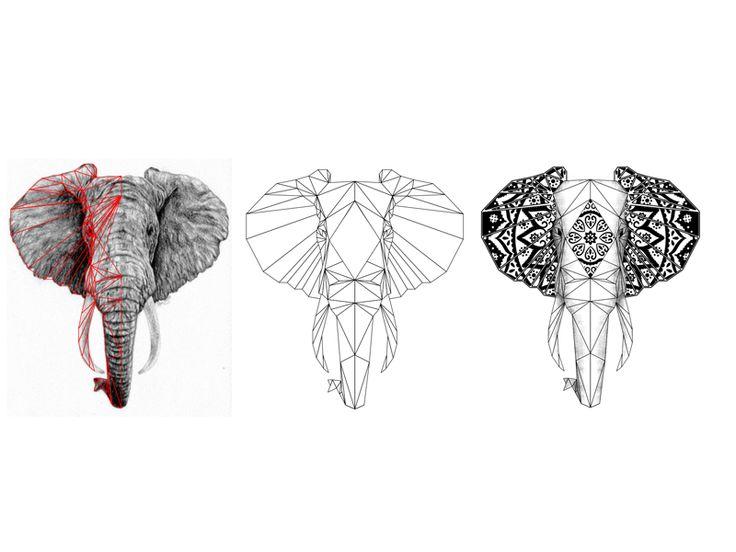 Easy Origami Elephant Head