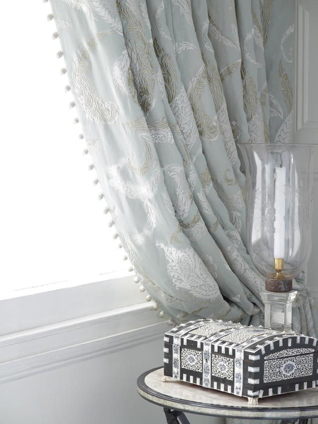 199 best Beautiful fabric images on Pinterest | Sheet curtains ...