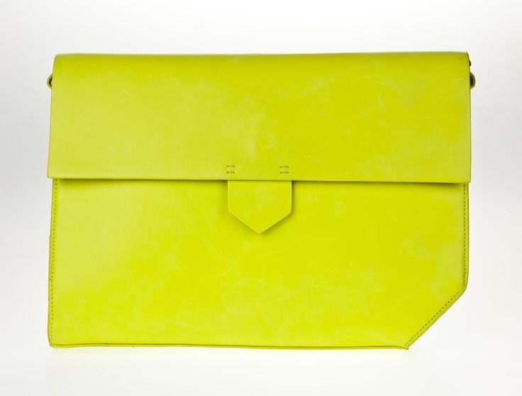 Neon clutch from Zara