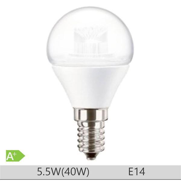 Bec LED PILA 6W E14 forma clasica P45, lumina calda http://www.etbm.ro/tag/149/becuri-led-e14
