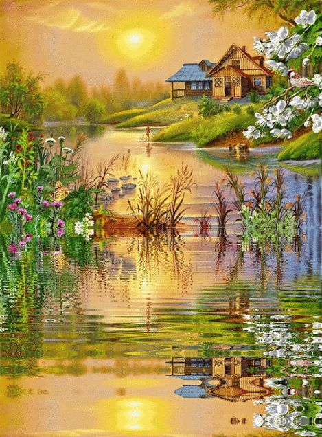 beautiful houses gifs - Pesquisa Google