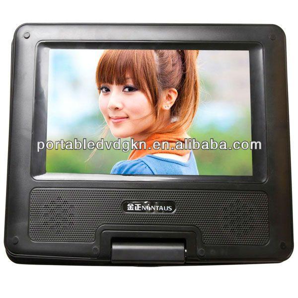 7inch cheap mini dvd player, portable dvd  Solution:SKA+Hitachi  270 swivel screen  Warranty: 12 M  CCC