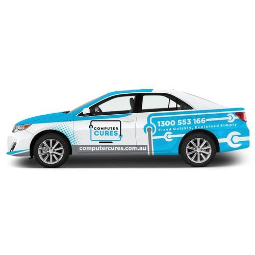 Design a world class Car Wrap for Computer Repair and IT Support