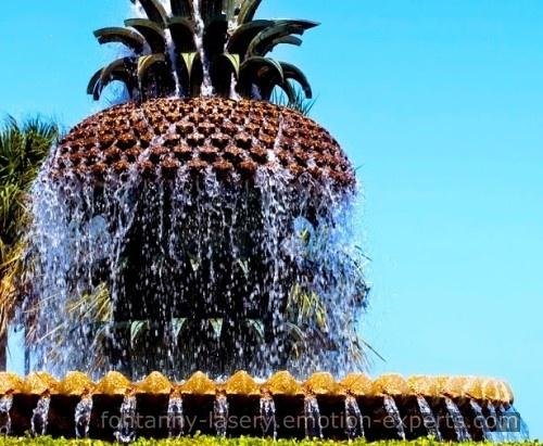 Fontanna wodna w kształcie ananasa fontanny-lasery.emotion-experts.com