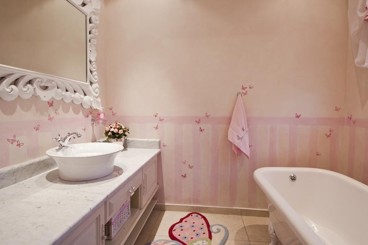 """Pretty in Pink"" Butterfly themed Bathroom"