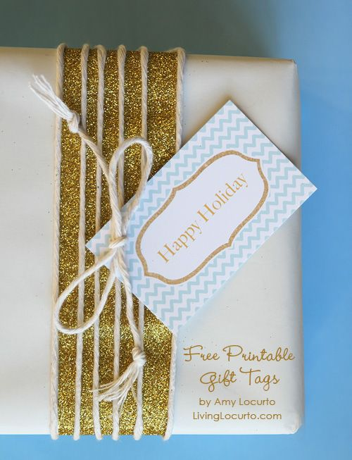 Free Printable Holiday Gift Tags by Amy Locurto