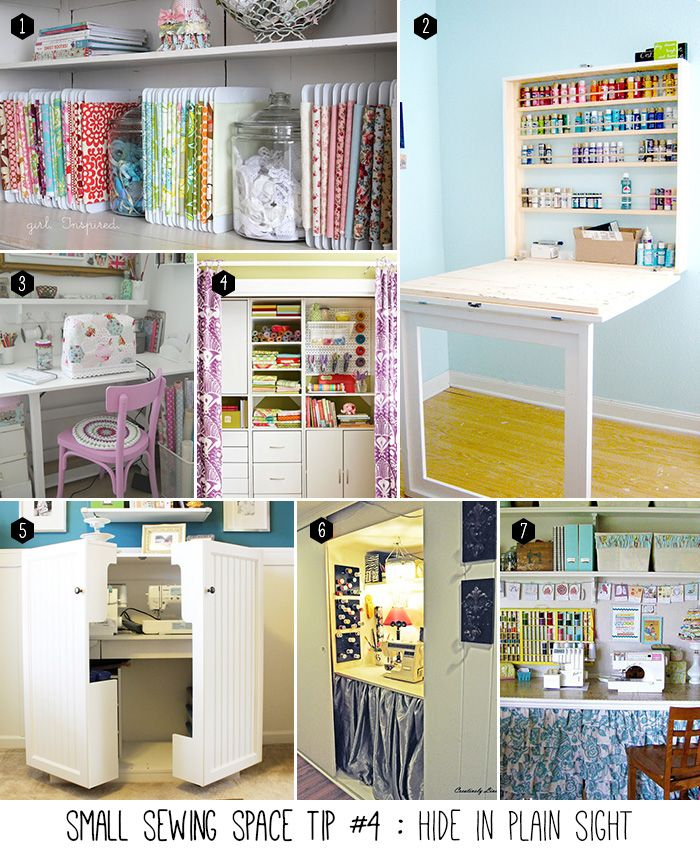 small sewing space tip #4 of 5 : fold it up, cover it or store it away!