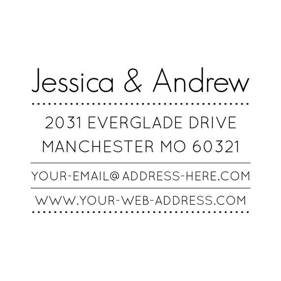 CUSTOM ADDRESS STAMP personalized address stamp by DoodleStamp