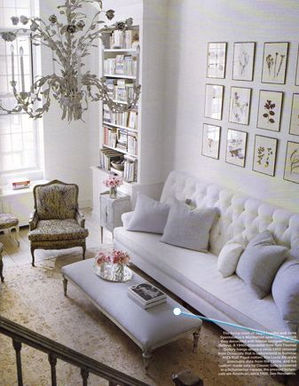 Elle Decor gorgeous white living room with French details