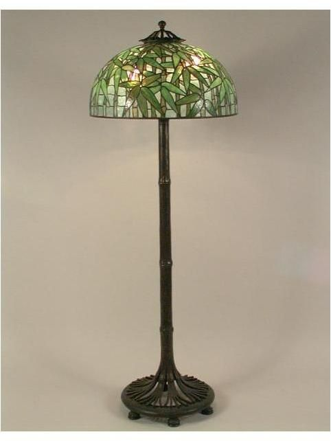 1000 images about tiffany studios floor lamps on pinterest for Tiffany bamboo floor lamp