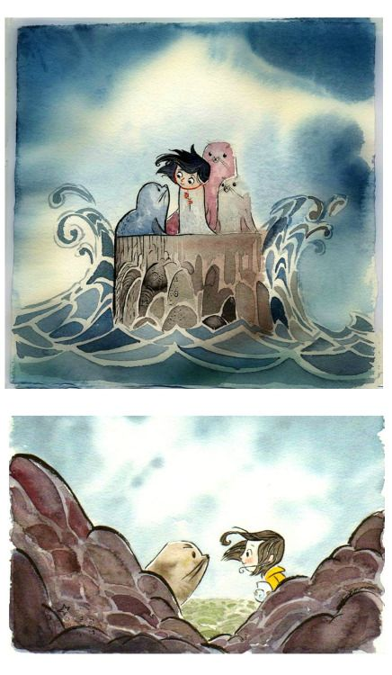 • concept art Tomm Moore song of the sea moonlight-dragon •