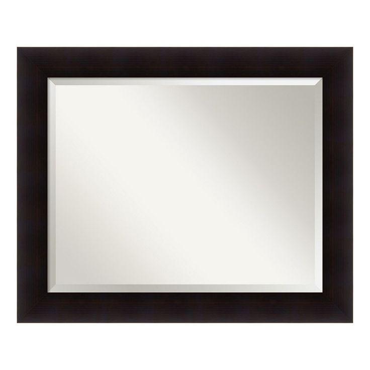 Amanti Art Portico Espresso Large Wall Mirror, Brown