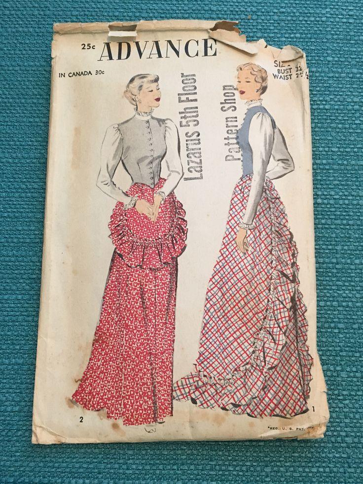 Vintage 40s Sewing Pattern: 40s -Advance Pattern No. 5861