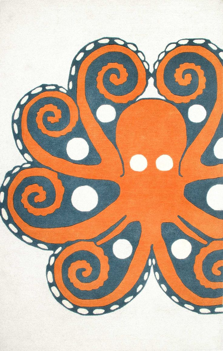 best area rugs images on pinterest  rugs usa shag rugs and  - thomas paul wool tp hand tufted giant octopus rug