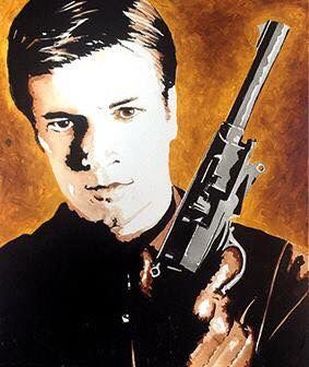 Nathan Fillion Firefly original acrylic canvas by local artist Maverick Icons instore now £140  #firefly #nathanfillion