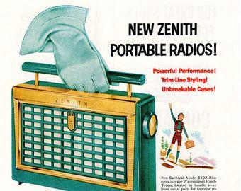 Zenith Portable Radio Ad - 1956 The Carnival Model Z402 Ad - 1950's Print Ad -