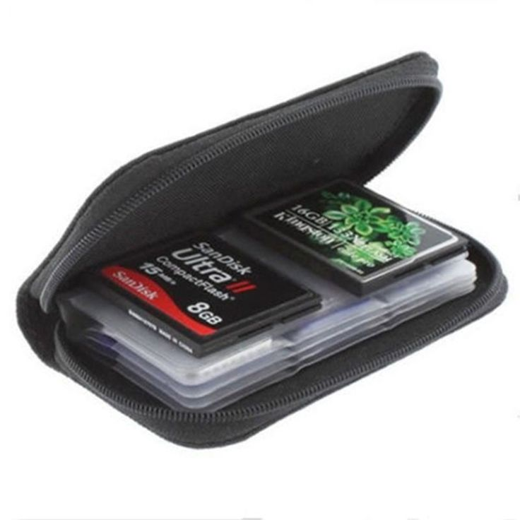 Memory Card Protective Organizer Box 22 Card Places SDHC MMC CF XD SD Memory Card Storage Carrying Pouch Bag