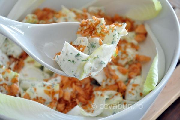 Salată de andive cu somon