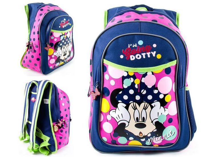 Minnie Mouse School Bag Girls Pink Backpack Junior Urban Turtle School Bag Gift…