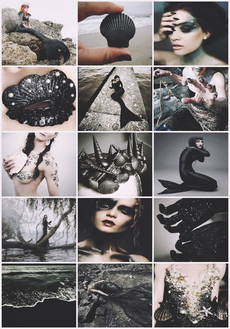 Dark Mermaid aesthetic requested by @nazgulqveen