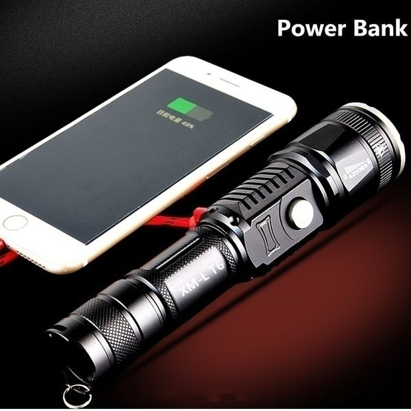 Led 58000000lm Torch Phone Usb Charging Flashlight Linternas Lampe Torch Charger Rechargeable Ba Rechargeable Flashlight Rechargeable Batteries Flashlight