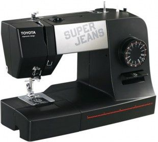 Macchina per cucire Toyota Super Jeans J15 - Con speciale piedino progettato per cucire fino a 12 strati di Jeans!