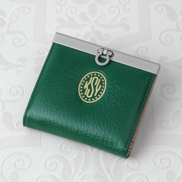 French Style Leather Bifold Purse  - Green from mozzin by DaWanda.com