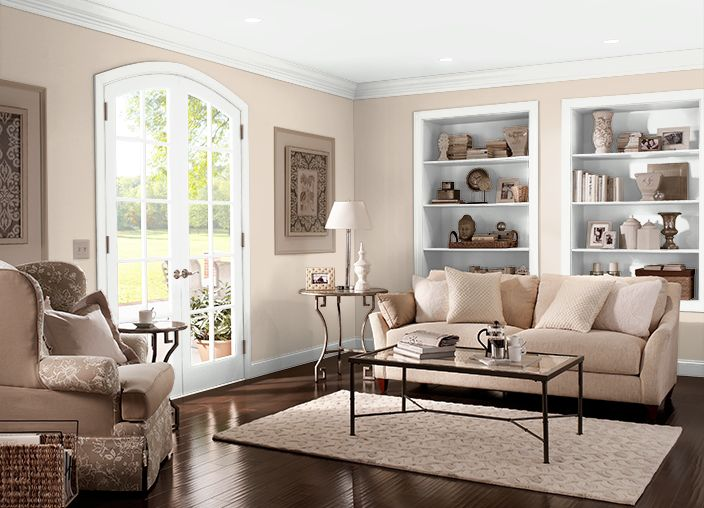 Adobe Sand Behr paint with neutral furniture | New home in ...