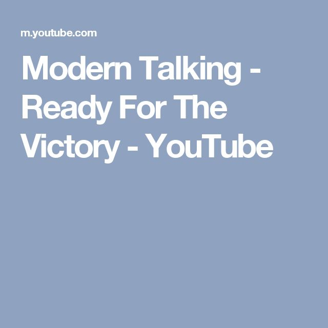Modern Talking - Ready For The Victory - YouTube