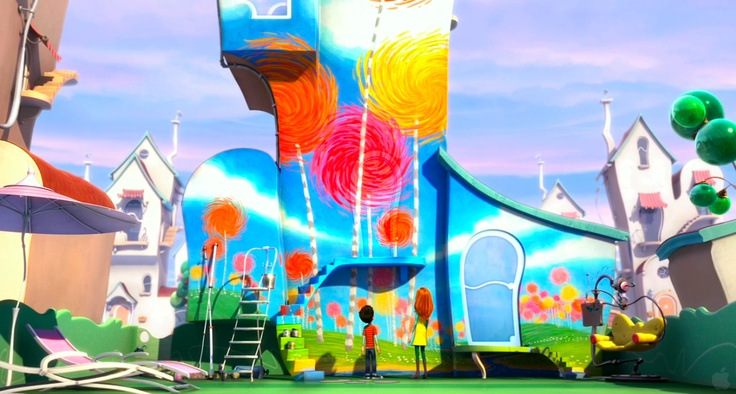 Lorax Truffula Tree House Painting I Would Love To Have