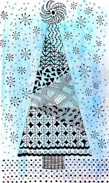 o christmas tree - art every day month 12 - day 28 by Mindful One, Kathryn Harper .via Flickr