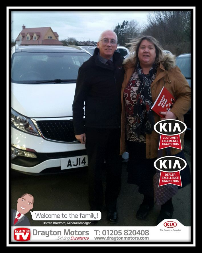 Mr and Mrs Jones collecting their new Sportage from Amanda. This is Mr and Mrs Jones' first car from Drayton Motors so we would like to say a big thank you! | by draytonkia