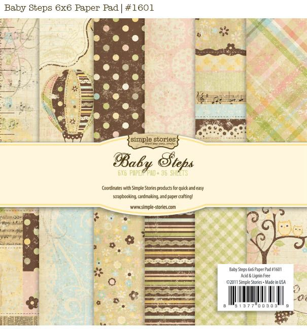 "Simple Stories ""Baby Steps"": Baby Minis, Stories Baby, Baby Paper, Step Paper, Paper Pads, Baby Things, Scrapbook Paper, Baby Step, Simple Stories"