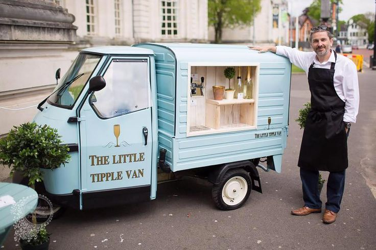 A vintage Piaggio Ape turned unique mobile drinks van