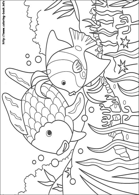 Rainbow Coloring Page For Kids And Adults From Cartoons Pages Fish