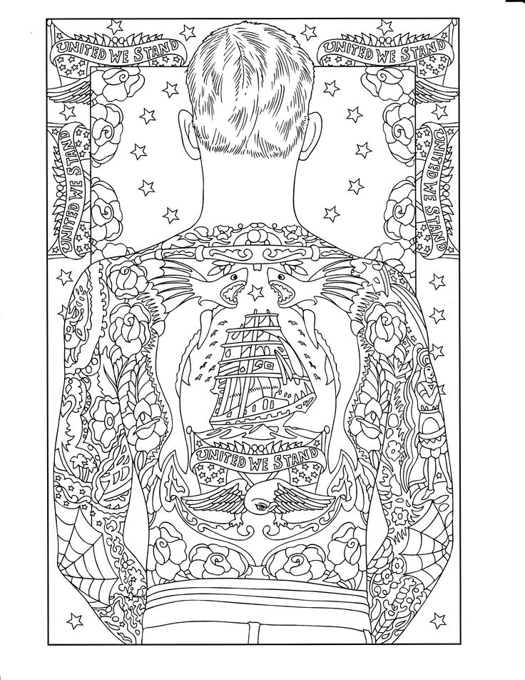 printable coloring page adult coloringcolouringcoloring booksprintable coloring pagesbody art tattoosart therapytattoo designsdover publicationszentangles - Body Art Tattoo Designs Coloring Book