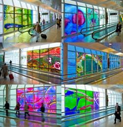 Over Houston- by, Gordon Huether in the Houston Airport, TX: Airports Art, Houston Airports, Gordon Huether, Favorite Art, Glasses Art, Art Installations, Public Street Art, Pretty Art, Favorite Spaces
