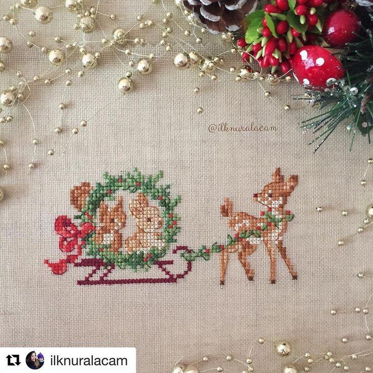@ilknuralacam #merrychristmas #natal #needlework #handembroidery #crossstitch #pontocruz #puntodecruz #puntodecroix