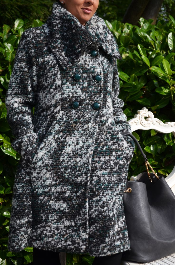 Lorella Garbi Coat £150 ,FU Myra Trousers £55, Real Leather Bag £50