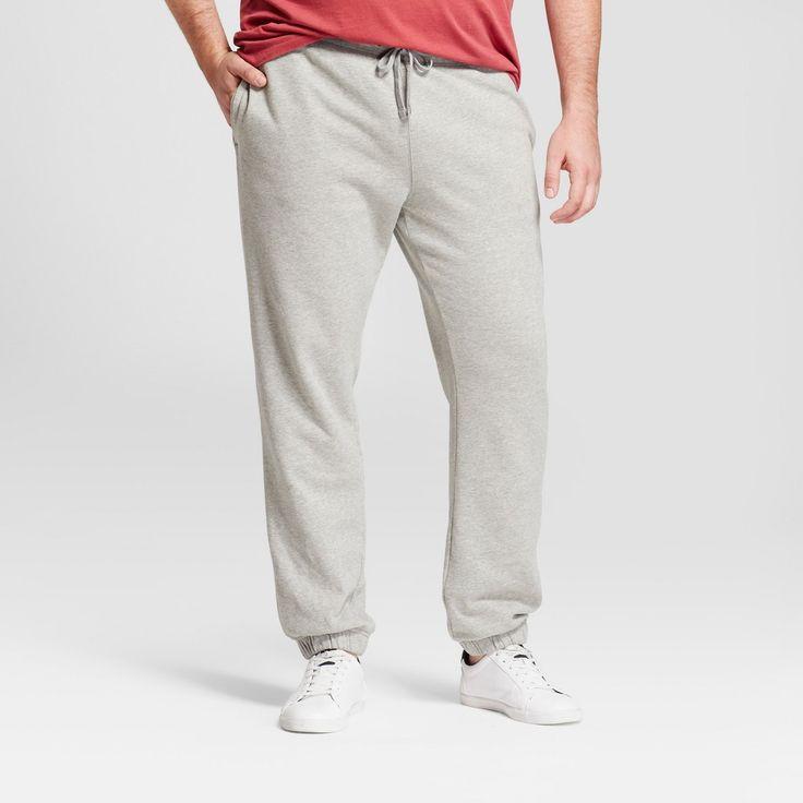 Men's Big & Tall Standard Fit Jogger Pants - Goodfellow & Co Gray L Tall, Size: LT