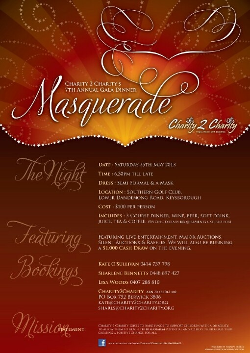 Charity2Charity gala dinner this May going to be my 5th year involved