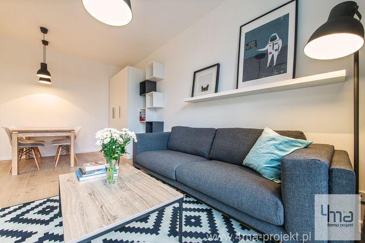 Aranżacja mieszkania - http://4ma-projekt.pl Kuchnia, przedpokój, salon, sypialnia, łazienka, dom, wnętrze, wnętrza, interior, home, architect
