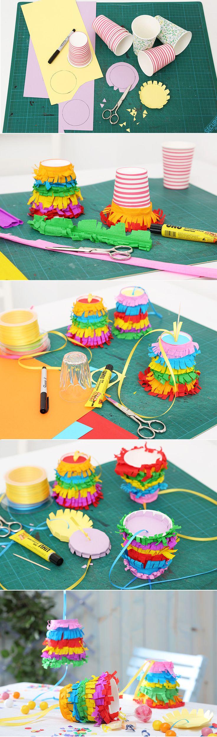 Step by Step zur Mini-Piñata. • Umsetzung und Foto: Thordis Rüggeberg